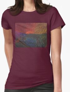 Spring Color Wheel Landscape Womens Fitted T-Shirt