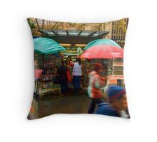 Wet Day In The City Throw Pillow