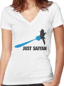 Just Saiyan T-shirt  Women's Fitted V-Neck T-Shirt