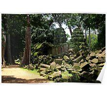 Ta Prohm Temple VII - Angkor, Cambodia. Poster