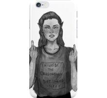 I need sleep even if I am the Dragonborn iPhone Case/Skin