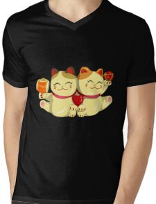 "FortuNeko - ""Toffee & Candy"" Mens V-Neck T-Shirt"