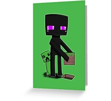Enderman and Creeper Greeting Card