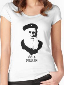 Charles Darwin - Vive la Evolucion! Women's Fitted Scoop T-Shirt