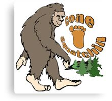 Gone Squatchin Bigfoot Canvas Print