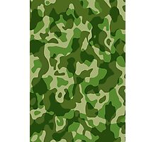 Green Camouflage Army Military Pattern Photographic Print