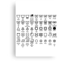 Laundry Instructions Canvas Print
