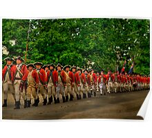 March Of The Redcoats Poster