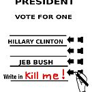 Hillary vs. Jeb 2016 by sublimy99