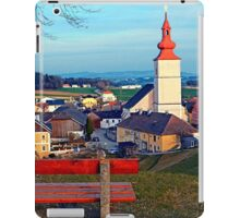 Bench with village scenery | landscape photography iPad Case/Skin