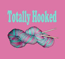 Totally hooked blue text on pink by LyricalSixties