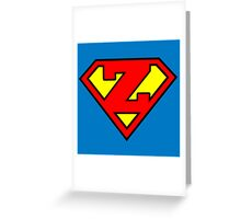 Super Z Greeting Card