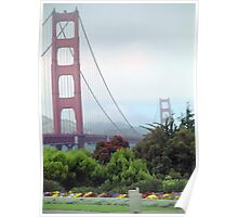 Golden Gate Bridge (in color) Poster