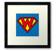 Superman Superboy Super W Framed Print