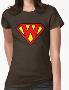 Super W Womens Fitted T-Shirt