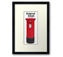 Postbox Original Email Framed Print