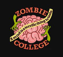 Funny Zombie College Cartoon Logo Unisex T-Shirt