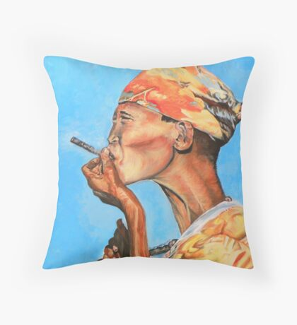 Just Smokin' Throw Pillow