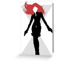 Black Widow Cut Out Design Greeting Card