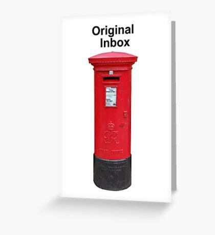 Postbox Original Inbox Greeting Card