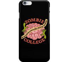 Funny Zombie College Cartoon Logo iPhone Case/Skin