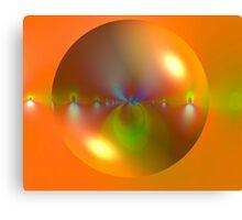 Bubble on Orange Canvas Print