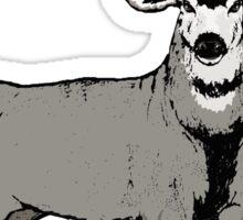 Trophy buck art Sticker