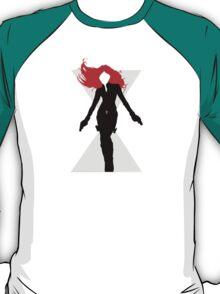 Black Widow Cut Out Design T-Shirt
