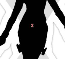 Black Widow Cut Out Design Sticker