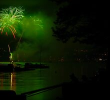 Green Fireworks by Charles Plant