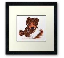 Sketching Teddy Bear Framed Print