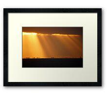 Mirage Sunrise - L Framed Print
