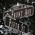 street sign by Sheila McCrea