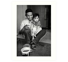 Father and Son, Jakarta Art Print