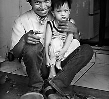 Father and Son, Jakarta by Simon Deadman