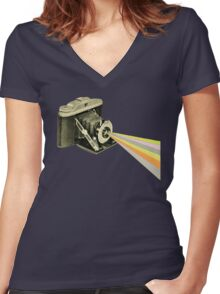 It's a Colourful World Women's Fitted V-Neck T-Shirt