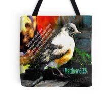 Matthew 6:26 Robin Tote Bag