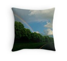 Rainbow on Taconic Parkway Throw Pillow