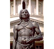 Bronze Indian Statue (Utah State Capitol) Photographic Print