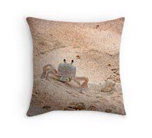 Hello Mr. Crab Throw Pillow