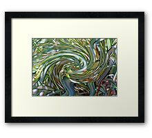 Ornamental Ribbon Grass Abstract 2  Framed Print