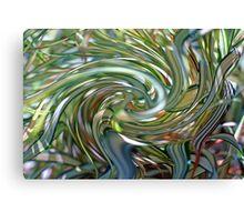 Ornamental Ribbon Grass Abstract 2  Canvas Print
