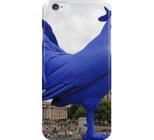A Blue cockerel lands in Trafalgar Square iPhone Case/Skin
