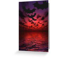 Flying bats Greeting Card