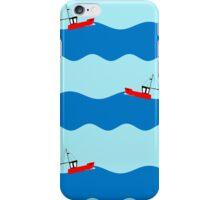 Fishing boat at sea. iPhone Case/Skin