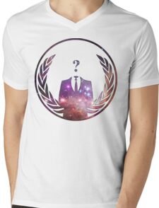 Cosmic Anonymous Mens V-Neck T-Shirt