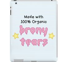 brony tears iPad Case/Skin