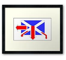Right Out of the Blue  Framed Print