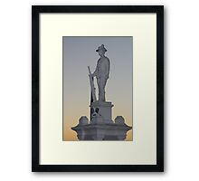 Respect to the fallen Framed Print