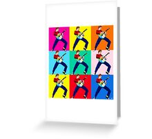 PAUL WELLER THE JAM WITH WHAM GUITAR Greeting Card